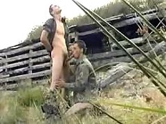 Military homo gives head his paramour