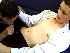 Twink jaws his fascinating fella and makes him cum