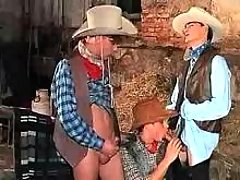 Teen cowboys enjoy dick sucking