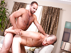 hairy sexually aroused hunks with huge cocks butt fuck until they cum