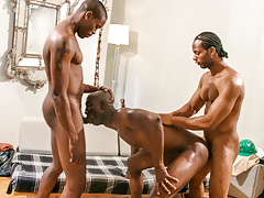Construction workers Scorpio & Tone lay Astengo's taut ass