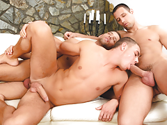 Enrico acquires double-stuffed by beautiful euro twins Alex & Ian