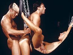 triple sweaty chaps enraptured in a tight, indebted daisy-chain!