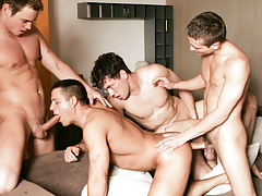 Julian Vincenzo watches a group of hungry fellows fuck and blow
