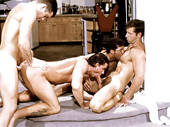 Those four randy studs plow all the time other into a appealing frenzy.