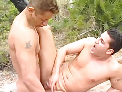 Bawdy lovers lick dicks on the coast in 4 motion picture