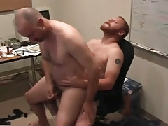 Matured man-lovers pooch mcgee and david marx find office place to gangbang in 5 clip