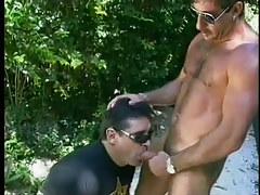 Wanking perv sucks off 2 cops in 3 video