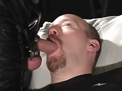 Cocksucking bear rob benefits from ball batter on his neatly trimmed goatee in 3 episode