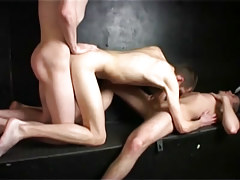 Ambrose miniature enjoys twofold cocks from bruno and charlie in 4 clip