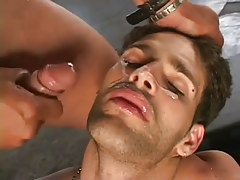 Horny guys gangbanging stud in appealing group love making act in 7 movie