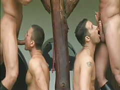 Heavy cowboy into group anal fucking in 2 movie scene
