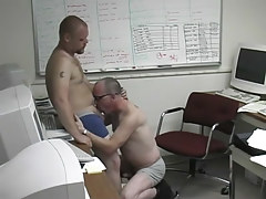 Pooch gets bawdy in the office with a damp man in 1 episode