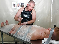 Taped Down Homosexual Drained Of Cum - Alex Silvers And Sebatian Kane