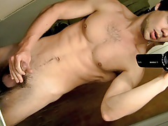 POV Strapon Playing with dick In The Bath - Zack Randall