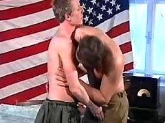 Young army soldiers take part in cock sucking banging