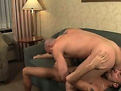 Gay takes his principal massive cock