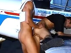 Gay pilots having anal getting joy by plane
