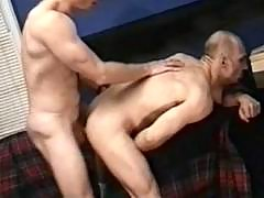 Gay fellows playing anal fuck