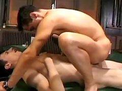 Horny homosexual guys have copulation