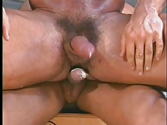 Gay muscle studs have hot anal in garage in 7 motion picture