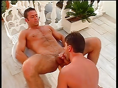 Sexy fruit guys end up covered in spunk in 4 episode
