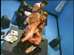 Four gorgeous gay chaps in group sex in 2 episode