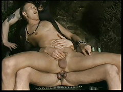 Infatuation leather gays in black room in 2 episode
