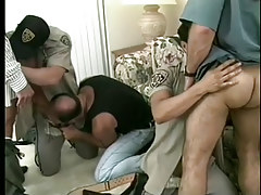 Hot gay policemen uniform porn hard fuckfest in 6 movie scene