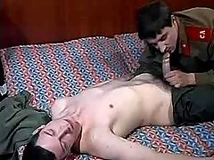 Army guy seduces and fucks comrade