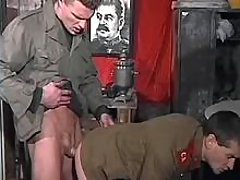 Russian police oficers having anal