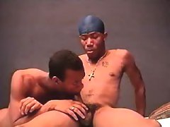 Black stud pounds sexually aroused gay guy prostitute