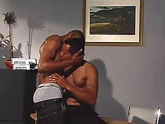 Nasty ebon gays anal sex heavily
