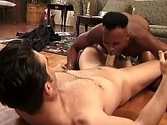 Gay presses jock in tight swarthy hole