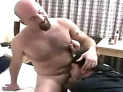 Horny grown dude sucks bear gay