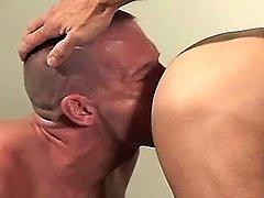 Gay boy sucks mature schlongs by bends