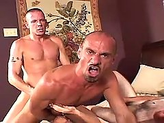 Lusty mature gay guy fucks rigid males breach