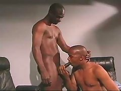 Black man-lover bitch serving hungry hunk