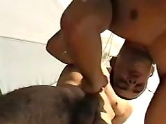 Lustful ebony studs fuck brains out