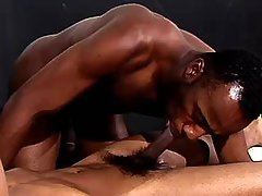 Lustful ebony fellows fuck brains out