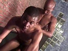 Filthy ebon gay accepts slammed rough