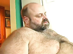 Bear grown gay guy enjoys oral sex