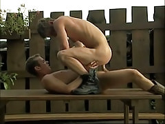 Naughty lad wild jumps on cock