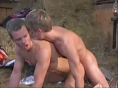 Young twink drills friend behind