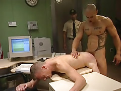 Muscle gay sleeps with man in doggy style