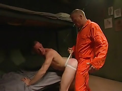 Horny prisoner sleeps with infant gentleman
