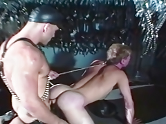 Slave in Leather Ass Fucked by Bear