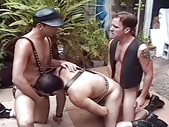 Hot Threesome Leather