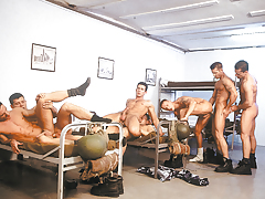 Sexy soldier in a hot gang band fuck