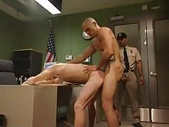 Dirty boss copulates poor gentleman in office